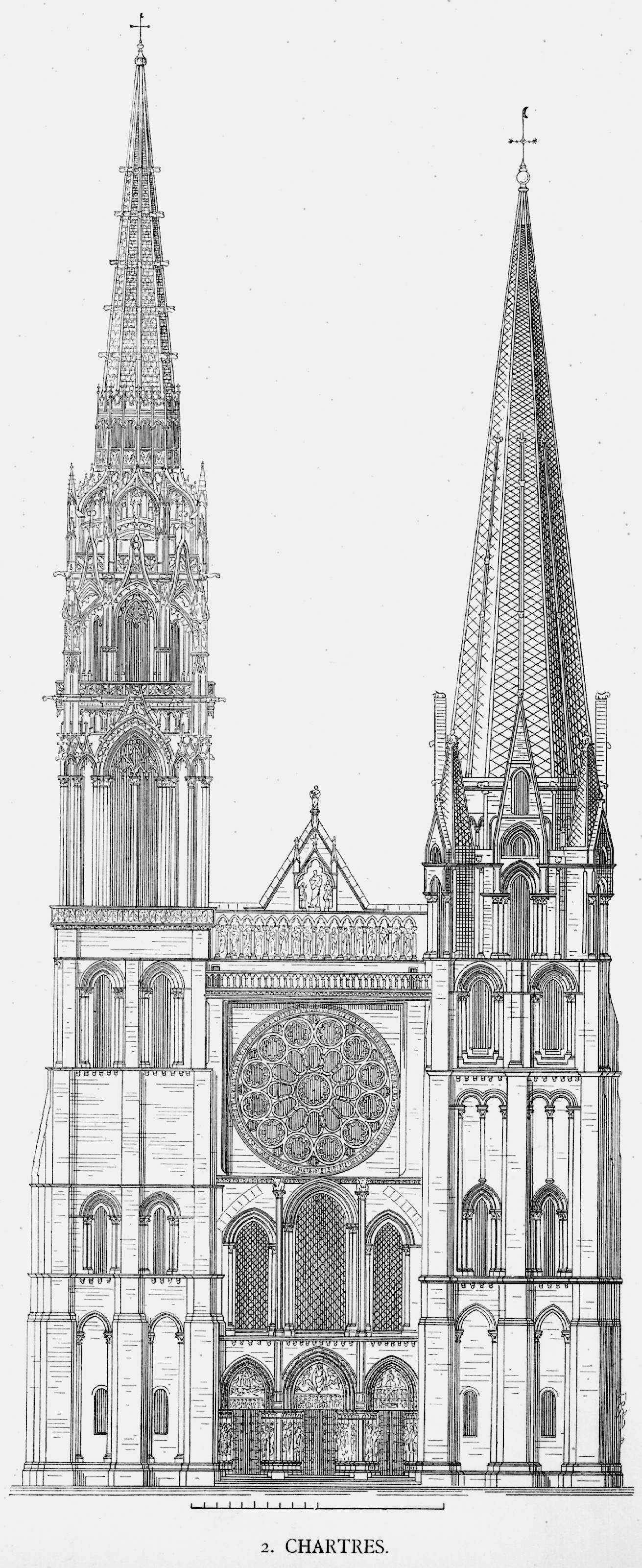 CATHEDRAL OF NOTRE DAME CHARTRES PLANS AND DRAWINGS